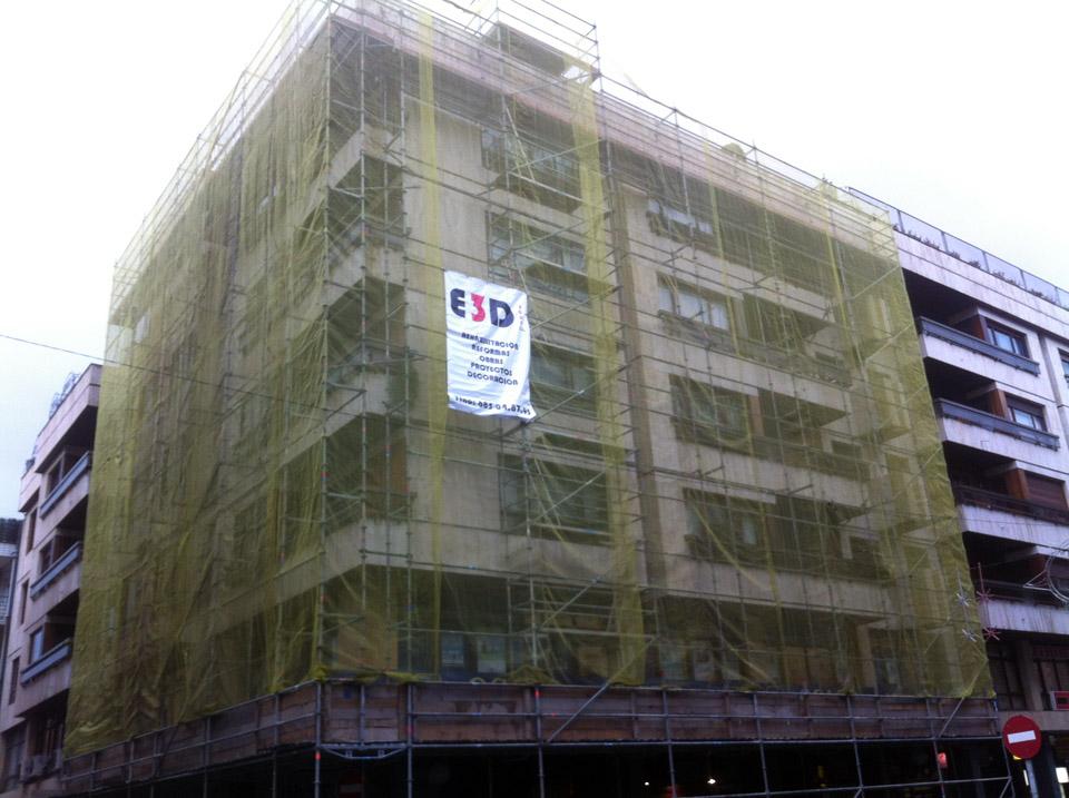 Rehabilitación de fachada en Las Arenas